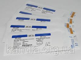 Хирургическая нить POLYPROPYLENE 1 USP 75  см, круглая колющая игла 26 мм 1/2