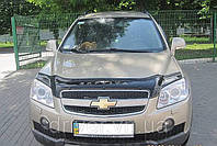 Дефлектор капота (мухобойка) Chevrolet Captiva 2006-2011, на крепежах