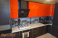 Кухни с фасадами в алюминиевом профиле под заказ в Сумах