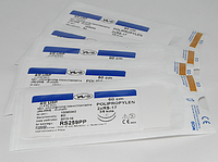 Хирургическая нить POLYPROPYLENE 7/0 USP 60 cм, 2x круглая колющая игла 13 мм 1/2