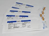 Хирургический шовный материал, нить POLYPROPYLENE 7/0 USP 60 cм, 2x круглая колющая игла 13 мм 1/2