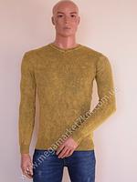Свитер мужской Ittierre коричневый без узоров V-горло BW-762-2