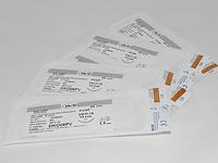 Хирургический шовный материал, нить PVDF 2/0 USP 75 см, режущая игла 26 мм 3/8