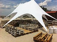 Шатер Звезда 2 - 10х15 м, белый (8лучевой) двухмачтовый-двукупольный Шатры Киев