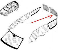 Стекло левой двери багажника без подогрева Logan MCV