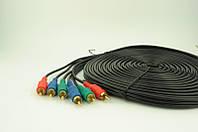 Аудио-кабель 3RCA 10 метров (в упаковке), удлинительный кабель 3rca 3rca