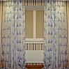 Готовый комплект штор 3 х 2,5 м органза France белый+голубой