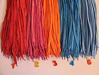 Кольорові Шнурки з неоновою ниткою 100см, фото 1