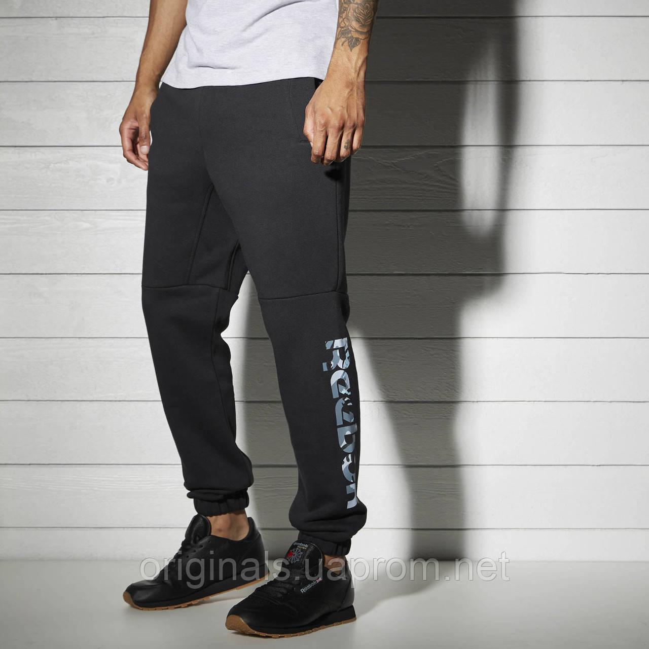 dc1502d044f19 Флисовые спортивные брюки Reebok Fleece Pant Black BK5024 -  интернет-магазин Originals - Оригинальный Адидас