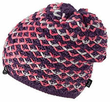 Теплая вязанная женская шапочка от Loman Польша, фото 3