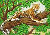 """Схема для вышивки бисером """"Леопард"""", А3"""