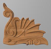 Деревянный резной декор для мебели. Декор угловой
