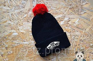Зимняя шапка с бубоном Vans Off The Wall / Ванс, фото 2