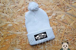 Зимняя шапка с бубоном Vans Off The Wall / Ванс, фото 3