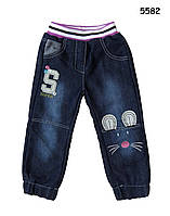 """Теплые джинсы """"Мышонок"""" для девочки. 3, 4, 5, 6, 7 лет"""