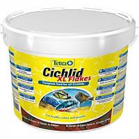 Корм для аквариумных рыб Tetra Cichlid XL Flakes 10л / 1,9 кг большие хлопья для крупных цихлид (201415)