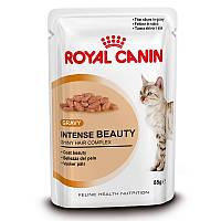Royal Canin Intense Beauty in GRAVY/Роял Канин влажный корм для поддержания красоты шерсти 85г