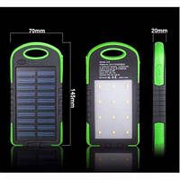 Портативное зарядное устройство Power Bank 35000 мАч с солнечной батареей + LED Фонарь(панель)