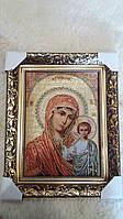Икона  на гобилене  Матерь Божья Казанская