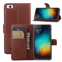 Чехол Xiaomi Mi4i / Mi4c книжка PU-Кожа коричневый