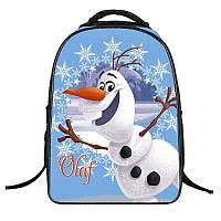 Школьный рюкзак с мягкой спинкой Снеговик