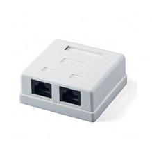 Розетка Logicpower (LP-114) 2-порт. RJ-45, кат.5e UTP (2310)