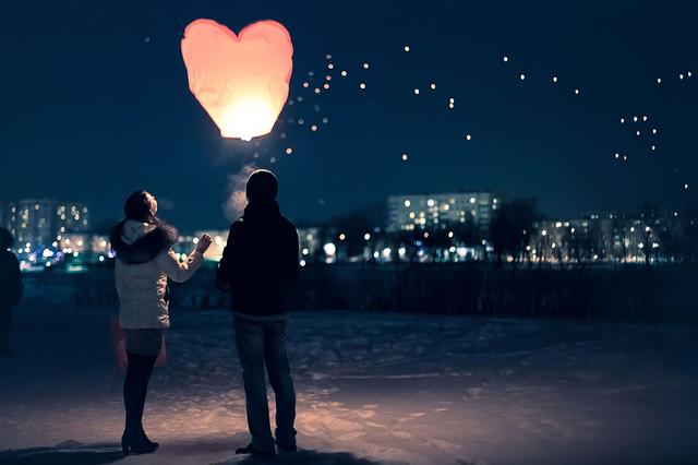 китайски фонарик сердце