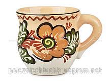 """Чашка глиняная """"Майолика"""" коричневая"""