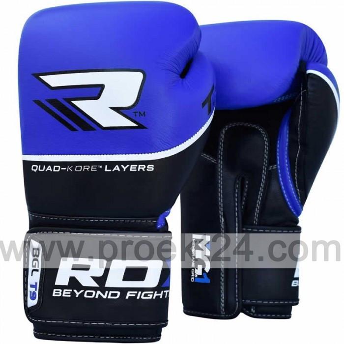 Боксерские перчатки RDX Quad Kore Blue-10 oz
