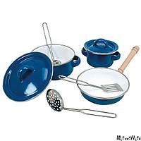 Набор эмалированной посуды из 8 предметов, Bino, Синий