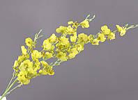 """Искусственный цветок 92 см. """"Онцидиум"""" желтый"""