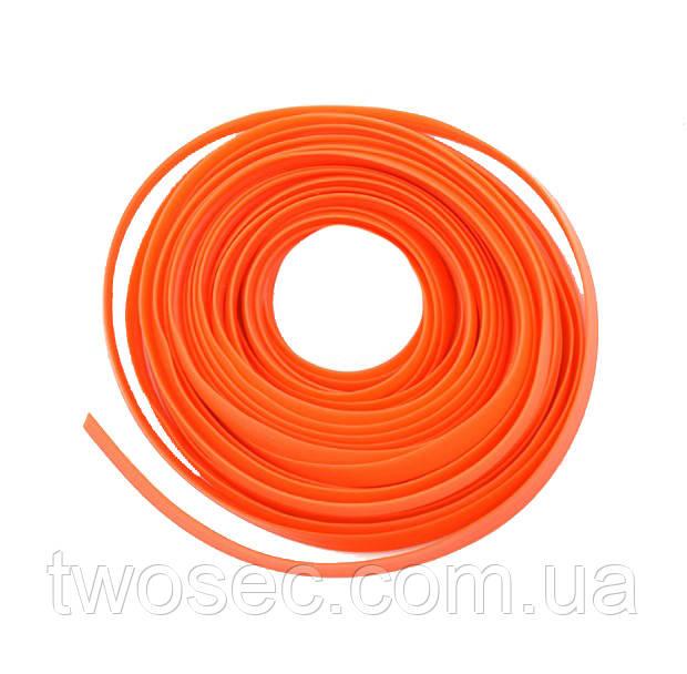 Декоративная молдинг-лента для салона автомобиля 1х5м  оранжевая
