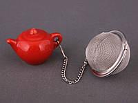 Фильтр для чая с подставкой (красный)