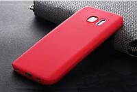Ультратонкий чехол силиконовый красный для Samsung Galaxy S7, фото 1