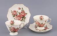 """Чайный набор на 2 персоны, 4 пр. """"Три розы"""""""