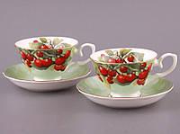 "Чайный набор на 2 персоны, 4 пр. ""Вишневый сад"""