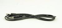 Аудио-кабель AUX 1.5м черный (в упаковке), кабель удлинитель aux