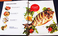 Печать изготовление меню для ресторана Сумы, кафе Сумы, котельная карта