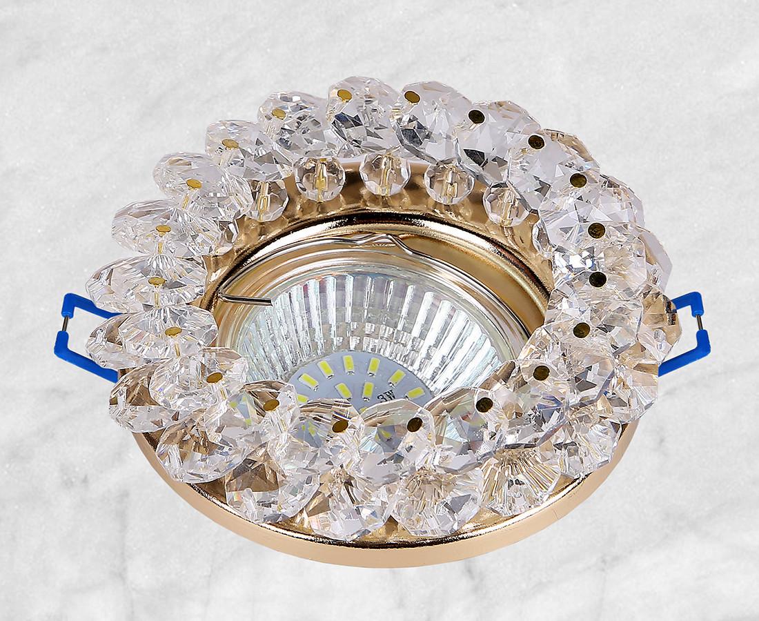 Точечный стеклянный врезной светильник (16-MKD091 GD)