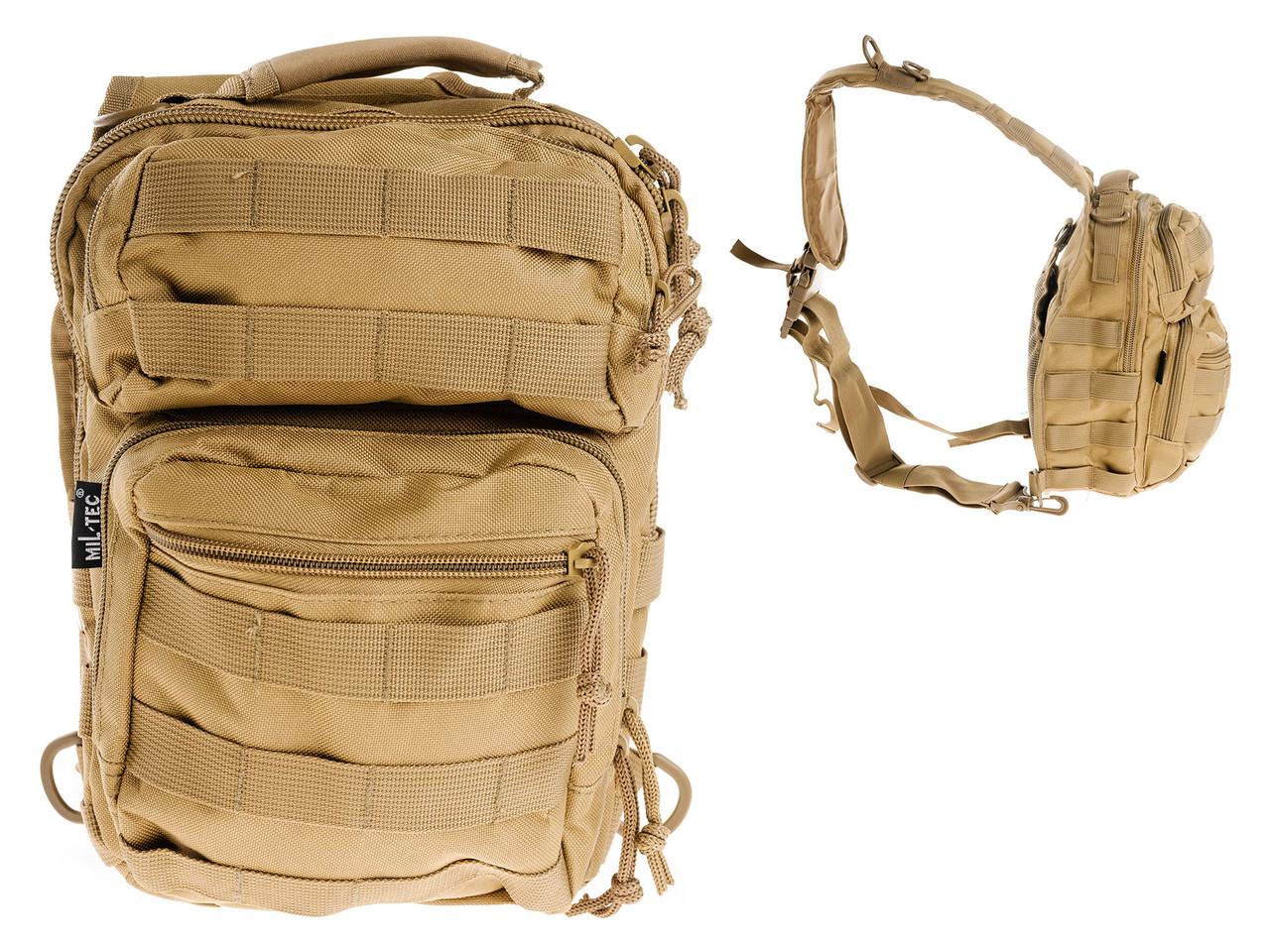 Сумка рюкзак 2in1 Mil-TEC Штурмовая Coyote Brown