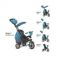 Велосипед  3-х колесный с ручкой и корзиной Smart Trike Splash 5 в 1  голубой