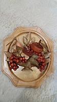 Панно деревянное Ваза с фруктами