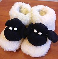 Детские комнатные сапожки-тапочки из овчины