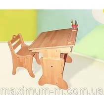 Детская парта-мольберт с пеналом + стульчик