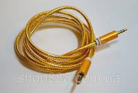 Аудио-кабель AUX 3.5 jack/M/M 1,5м цветной силиконовый, кабель удлинитель aux jack 3.5mm