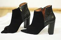 Бомбовые и комфортные женские туфли от TroisRois из натурального замша и кожи рептилии