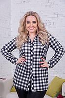 Модная женская рубашка больших размеров