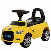 Машина для детей каталка толокар BMW 7681 желтая