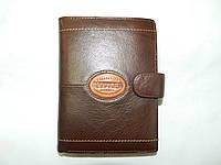 Мужской кожаный кошелёк-портмоне для денег и документов фирмы CEFIRO