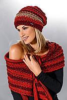 Теплый вязанный женский шарфик - шаль  от Loman Польша